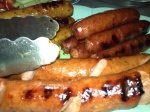 grilled-stuffed andouille sausage