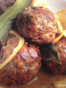 meatballs with white wine & lemon